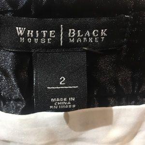 White House Black Market Skirts - WHBM plaid skirt with leatherette trim sz2